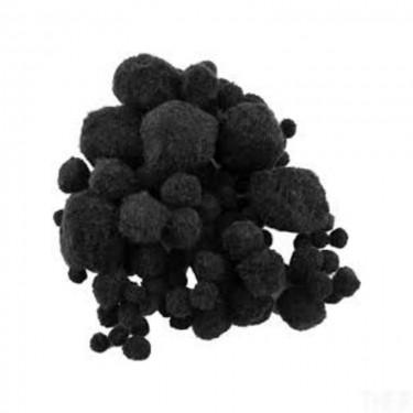 Pompon Fekete vegyes 10-45 mm 100 db/cs