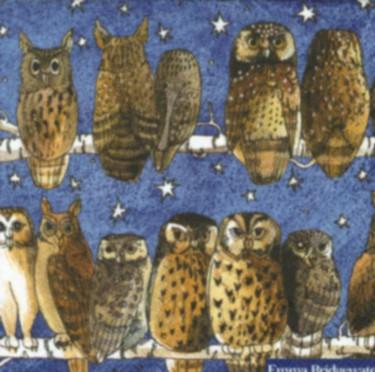 Dekorszalvéta - Owls