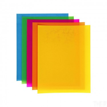 Zsugorodó fólia, vegyes színű A4 5 db/cs