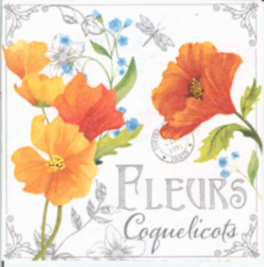 Dekorszalvéta - Fleurs de Coquelicots