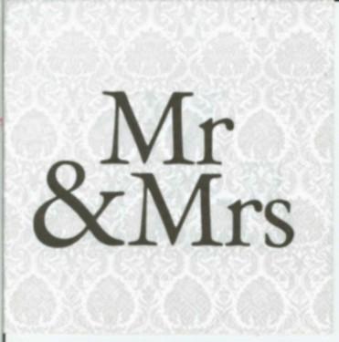 Dekorszalvéta - Mr&Mrs Black