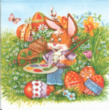Dekorszalvéta - Rabbit Painter