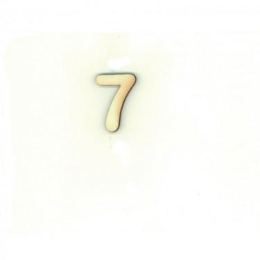 Festhető fafigura 7-es szám 10 db/cs