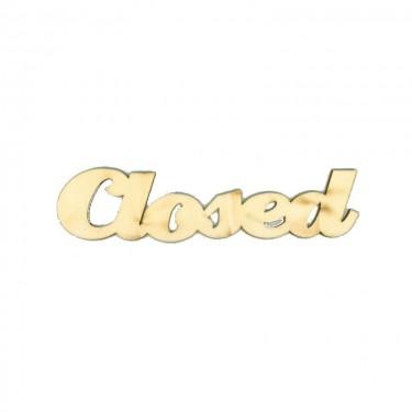 Festhető fafigura Closed felirat nagy 20x5 cm 1 db/cs