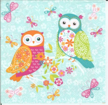 Dekorszalvéta - Magical Owls