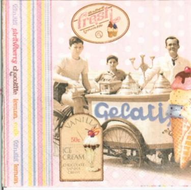 Dekorszalvéta - Ice Cream (25x 25 cm)