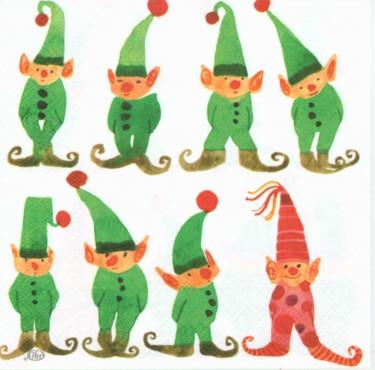 Dekorszalvéta - Little Elfes