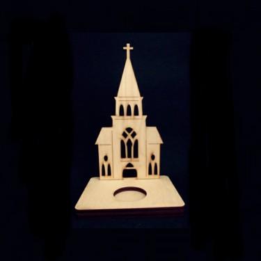 Mécsestartó 1 mécseshez templommal