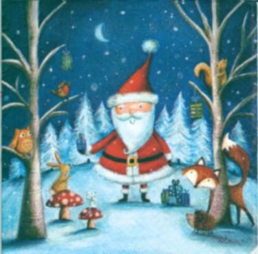 Dekorszalvéta - Santa and Friends