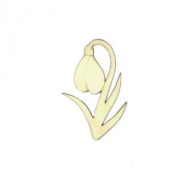 Festhető fafigura Hóvirág 12 cm 1 db/cs