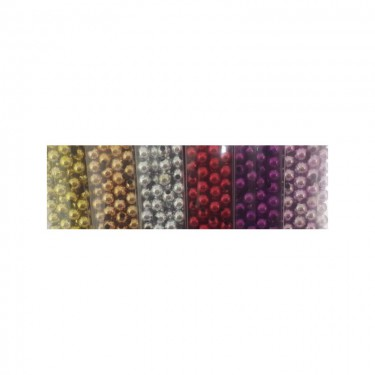 Műanyag metál gyöngy (nagy kiszerelésű) 8 mm 80 g