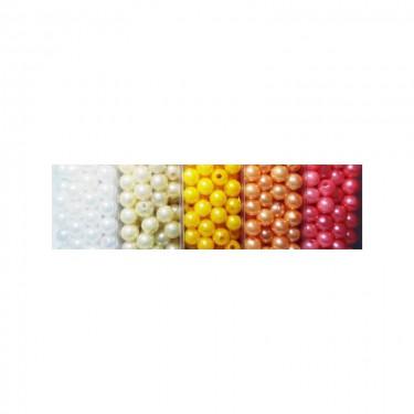 Műanyag teklagyöngy 5. (nagy kiszerelésű) 8 mm 80 g