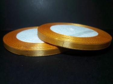 Szatén szalag, Arany 6 mm / 23 m
