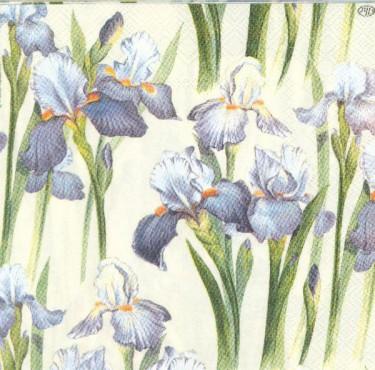 Dekorszalvéta - Blue Iris