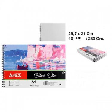Artix Olajfestéshez papírblokk A4 10 lap 280 g