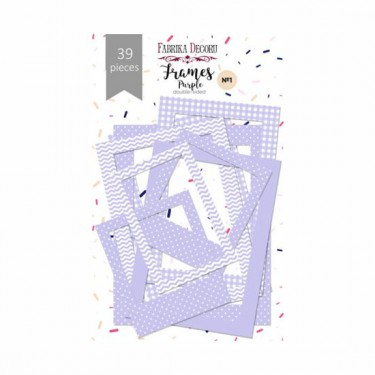Papír képkeret lila 50 db