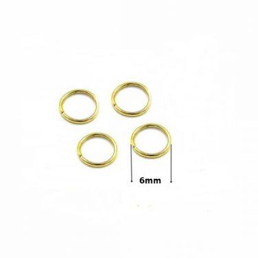 Szerelőkarika 6 mm Arany 20 db/cs