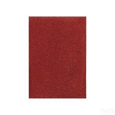Csillámos dekorgumi Piros A/4 10 db/cs