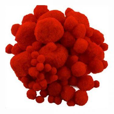 Pompon Piros vegyes 100 db/cs