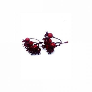 Őszi dekoráció Piros bogyó 2 db/cs