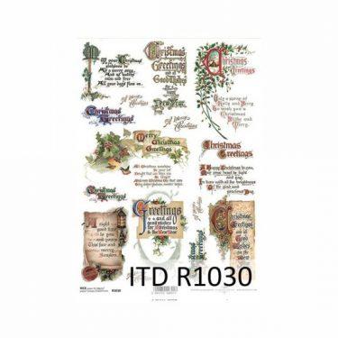 Karácsonyi rizspapír 1030