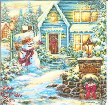 Dekorszalvéta - Christmas Evening