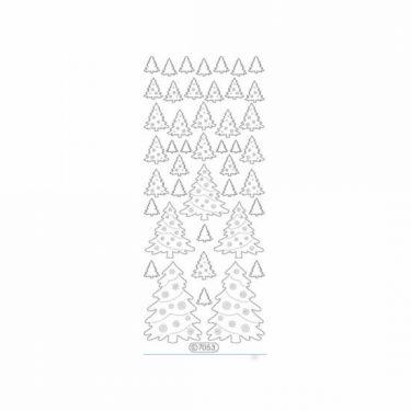 Karácsonyi dekormatrica glitteres ezüst 7053