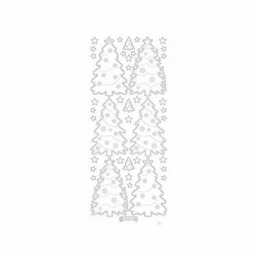 Karácsonyi dekormatrica glitteres ezüst 7071