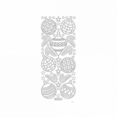 Karácsonyi dekormatrica ezüst 8505