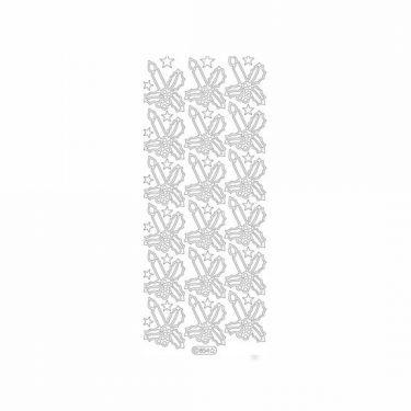 Karácsonyi dekormatrica ezüst 854