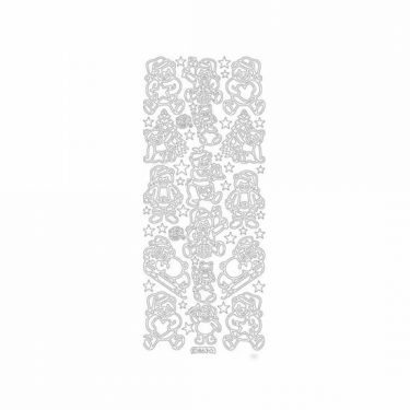 Karácsonyi dekormatrica ezüst 863
