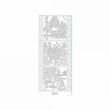 Karácsonyi dekormatrica ezüst 864