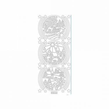 Karácsonyi dekormatrica ezüst 865