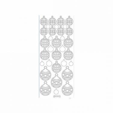 Karácsonyi dekormatrica ezüst 974