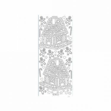 Karácsonyi dekormatrica ezüst 987