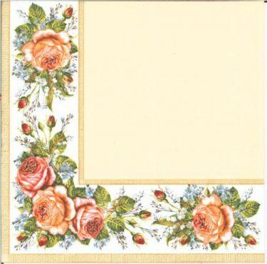 Dekorszalvéta - Vintage Roses Cream