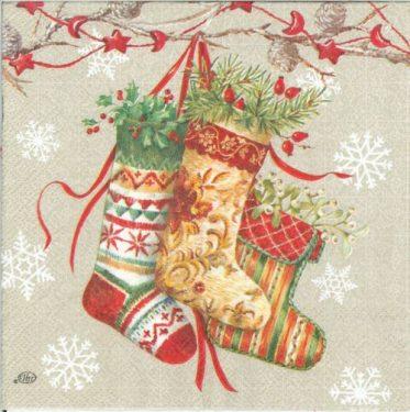 Dekorszalvéta - Decorative Stockings