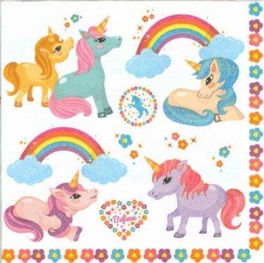 Dekorszalvéta - Rainbow Pony