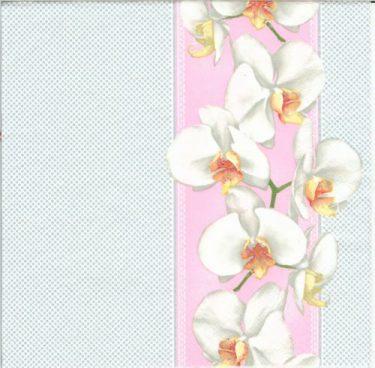 Dekorszalvéta - Tender Orchid in Pink