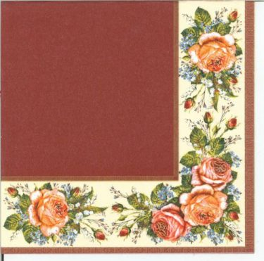 Dekorszalvéta - Vintage Roses Scarlet