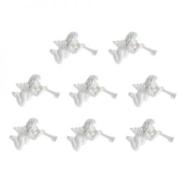 Trombitás angyal, ragasztható dísz 4 db/cs