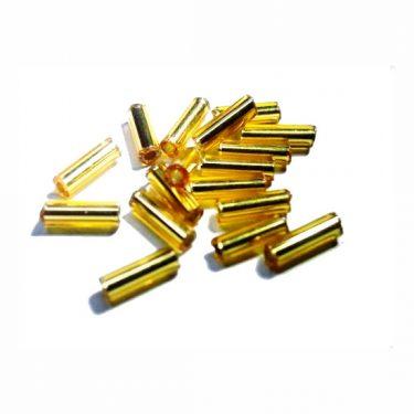 Cseh szalmagyöngy Arany 6 mm 10 g