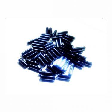 Cseh szalmagyöngy Hematit 6 mm 10 g