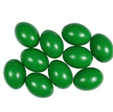 Műanyag tojás, sötétzöld 6 cm 25 db/cs