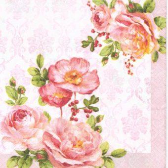 Dekorszalvéta - Floral Damask