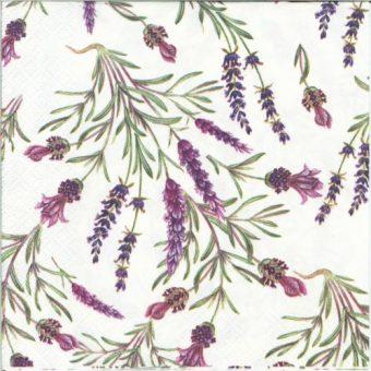 Dekorszalvéta - Lavender Twigs