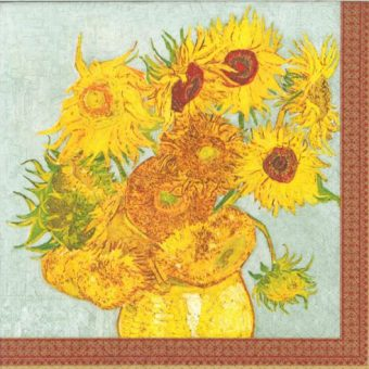 Dekorszalvéta - Vase with Twelve Sunflowers