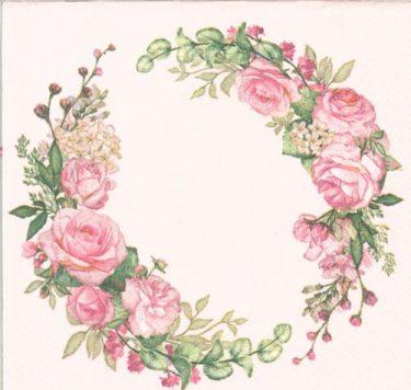 Dekorszalvéta - Wedding Watercolour Wreath