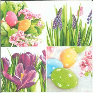 Dekorszalvéta - Pastel Easter Collage