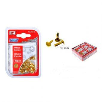 Miltonkapocs arany 18 mm 30 db/cs